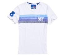 Herren Retro Mountaineer T-Shirt mit Tasche weiß