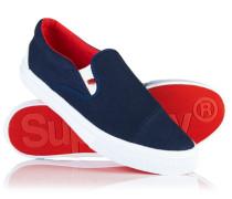 Herren Mono Sneaker zum Hineinschlüpfen marineblau