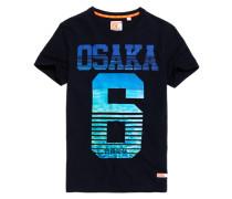 Herren Osaka Aqua Stripe T-Shirt marineblau