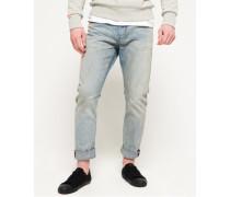 Herren Schmal geschnittene Low Rider Jeans blau