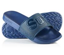 Herren Pool Slider Sandalen marineblau