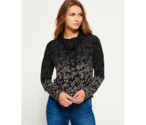 Damen Nordic Ombre Funnel Shirt schwarz