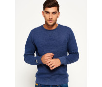 Herren Sweatshirt Store Embossed Crew Neck Top marineblau