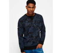 Herren Rookie Rundhals-Sweatshirt mit Tarn-Print dunkelgrau