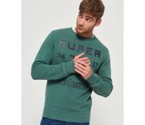 Herren The Industry Rundhals-Pullover mit Überfärbung grün