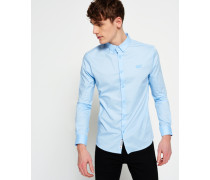Herren Tailored Slim Fit Hemd blau