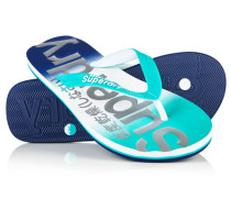 Damen Faded Base Flip Flops blau