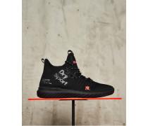 Damen Nebulus Hybrid High Sneaker schwarz