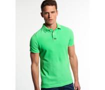 Herren New Vintage Destroyed Piqué Polo-Shirt grün