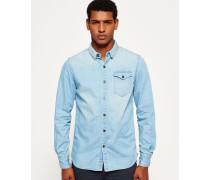 Herren IE Ghost Button-Down Jeanshemd blau