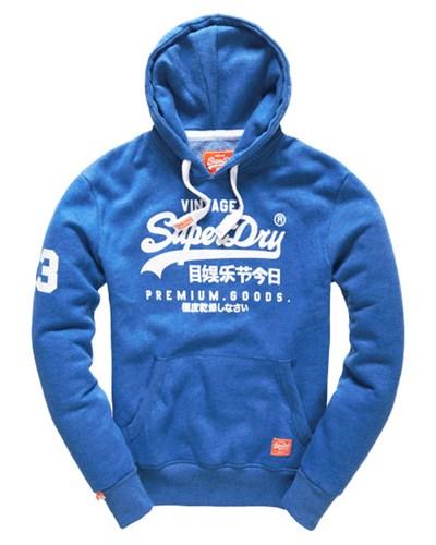 superdry herren superdry herren premium goods hoodie blau 20 reduziert. Black Bedroom Furniture Sets. Home Design Ideas