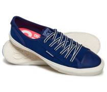 Damen Niedrige College Pro Luxe Sneaker marineblau