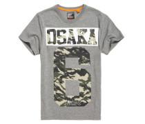 Herren Osaka 6 T-Shirt mit Tarnmuster hellgrau
