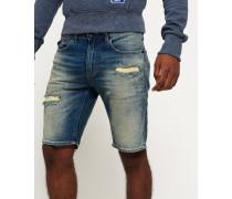 Herren Slim Denim-Shorts blau
