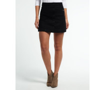 Damen Jeans-Mini in A-Linie schwarz