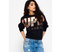 Damen Downtown LA Rundhals-Sweatshirt schwarz