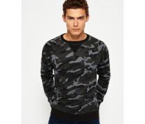 Herren Rookie Rundhals-Sweatshirt mit Tarn-Print grün