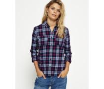 Damen Lumberjack Hemd marineblau