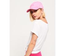 Damen Weiche Orange Label Mütze pink