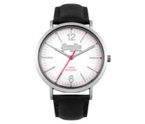 Oxford Leder Armbanduhr schwarz