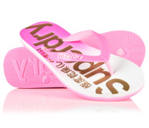 Damen Faded Base Flip Flops pink