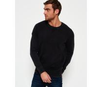 Herren Garment Dyed L.a. Crew Neck Sweatshirt dunkelgrau