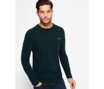 Herren Vintage Embroidery Long Sleeve T-Shirt grün