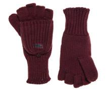 Damen Fingerlose Ollie Handschuhe rot