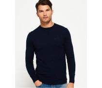 Herren Orange Label Pullover mit Rundhalsausschnitt marineblau
