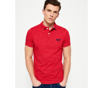 Herren End On End Jersey Polo-Shirt rot