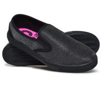 Damen Core Sneaker zum Hineinschlüpfen schwarz
