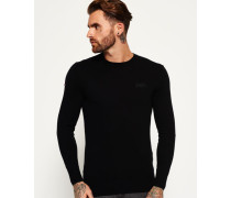 Herren Orange Label Crew Pulli schwarz