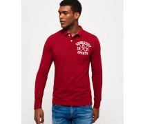 Herren Klassisches Superstate Polohemd mit langen Ärmeln rot
