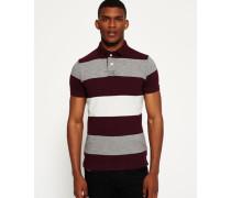 Herren Classic Hoop Stripe Polo-Shirt rot