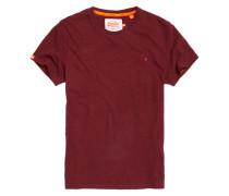 Herren Orange Label Vintage T-Shirt mit Stickerei rot