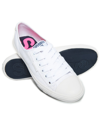 Superdry. Damen Low Pro Sneaker weiß