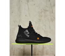 Herren Nebulus Hybrid High Sneaker schwarz