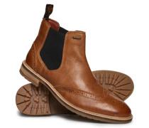 Herren Brad Brogue Pemium Chelsea Boots hellbraun