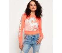 Damen Big S Rundhals-Sweatshirt koralle