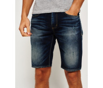 Herren Officer Slim Denim Shorts blau