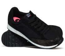 Damen Core Runner Sneaker schwarz