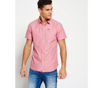 Herren Modernes, klassisches Hemd rot