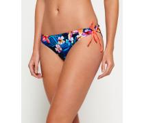 Damen Bikinihöschen mit Hawaii-Print in Marmor-Optik bunt