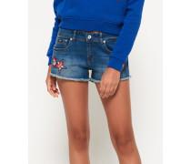 Damen Hot Jeansshorts blau