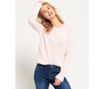 Damen Gerippter Alyssa Strickpullover pink