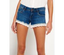 Damen Lace Hot Shorts blau