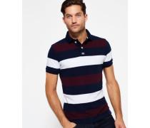 Herren College Hoop Stripe Polo-Shirt marineblau