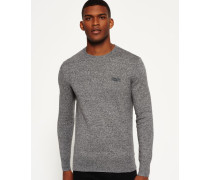 Herren Orange Label Crew Pulli grau