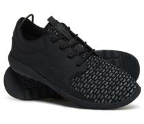 Herren Sport Weave Runner Sneakers schwarz