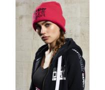 Damen Fold Sport Beaniemütze pink